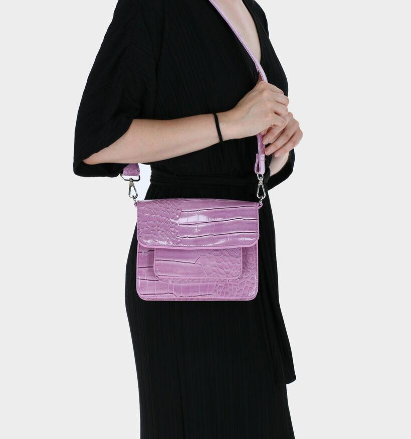 Hvisk Cayman Pocket Vegan Sac porté croisé en Noir en simili cuir (287565)