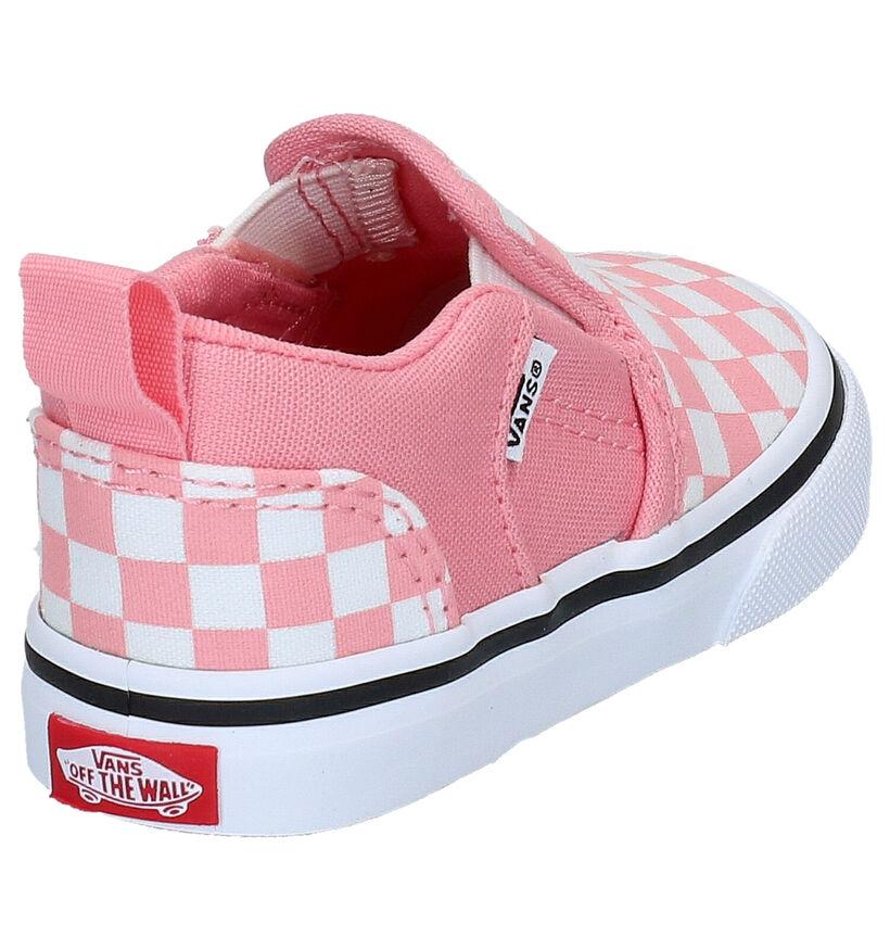 Vans Asher Roze Slip-on Sneakers in stof (290256)
