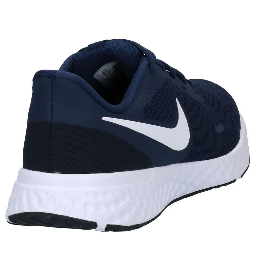 Nike Revolution 5 Blauwe Sneakers in stof (277441)