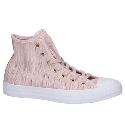 Zwarte Sneakers Converse CT All Star Hi in stof (238368)