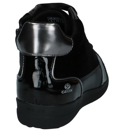 Geox Baskets hautes en Noir en cuir verni (223751)