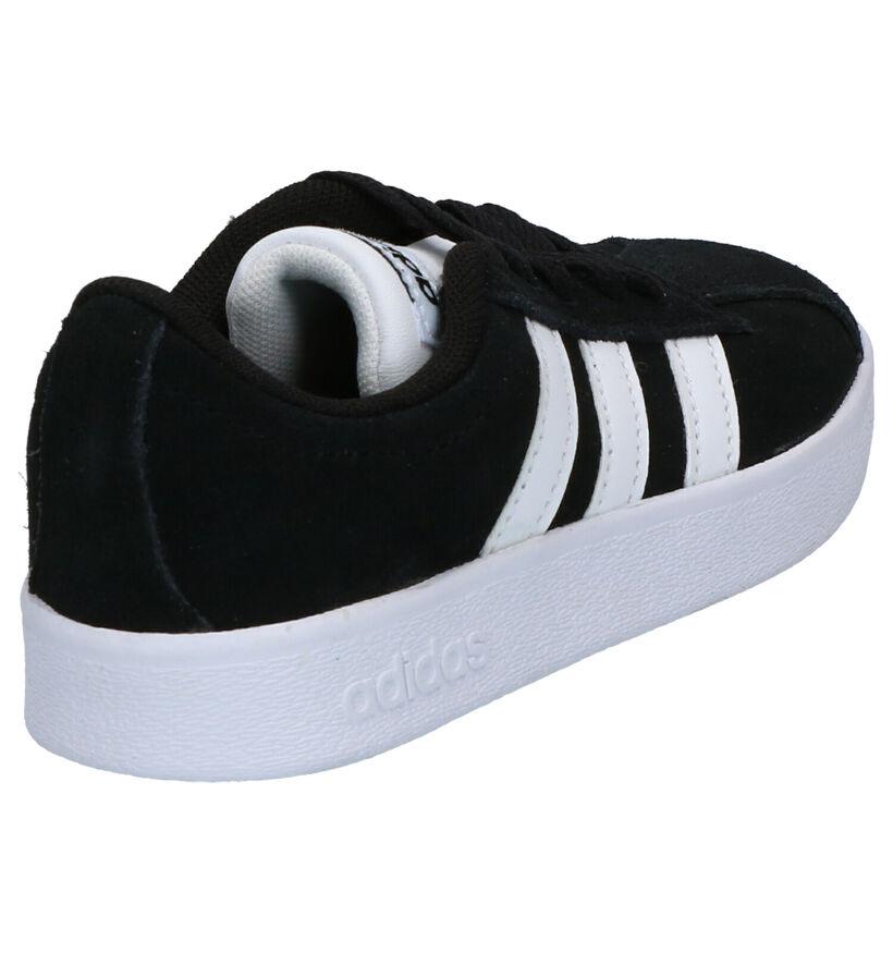 adidas VL Court 2.0 Zwarte Sneakers in kunstleer (252556)