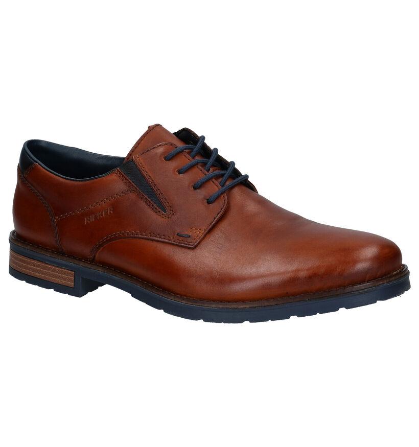 Rieker Chaussures basses en Cognac en cuir (277625)