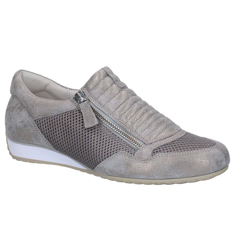 OptiFit Chaussures slip-on en Taupe en nubuck (275220)
