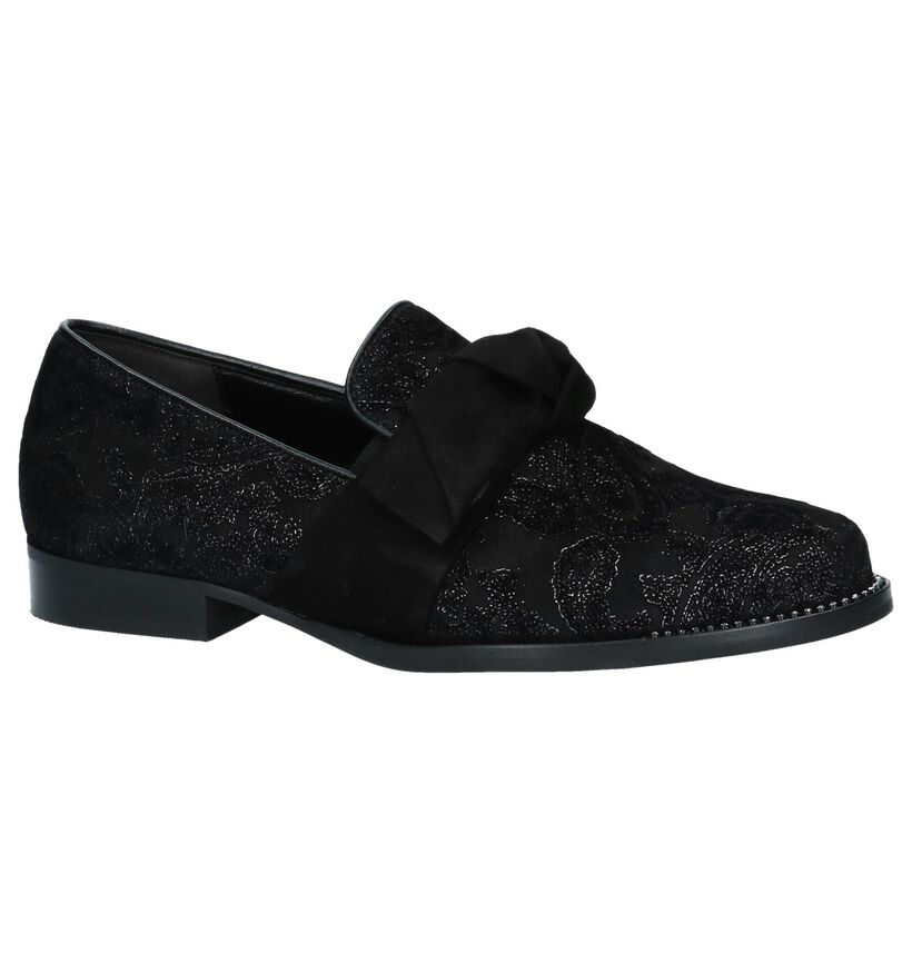 Gabor Zwarte Loafers in daim (231244)