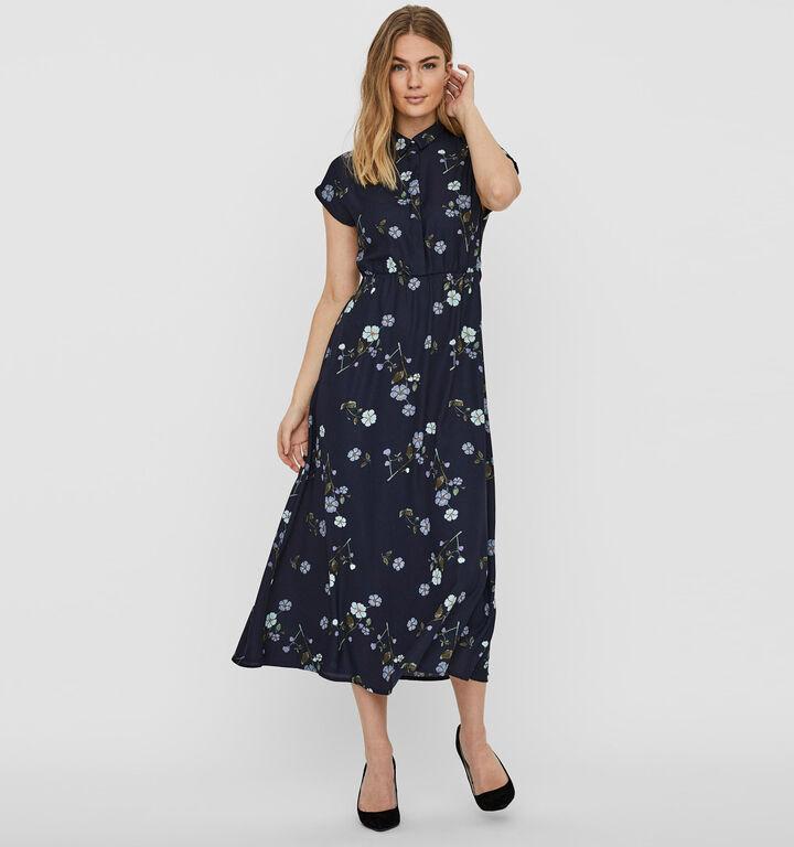 Vero Moda Allie Blauwe Hemdjurk