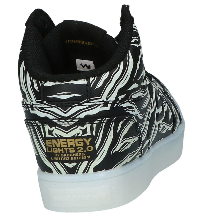 Skechers Energy Lights Baskets hautes en Noir en simili cuir (210347)