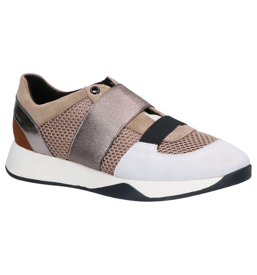 Geox Baskets basses en Beige en textile (255281)