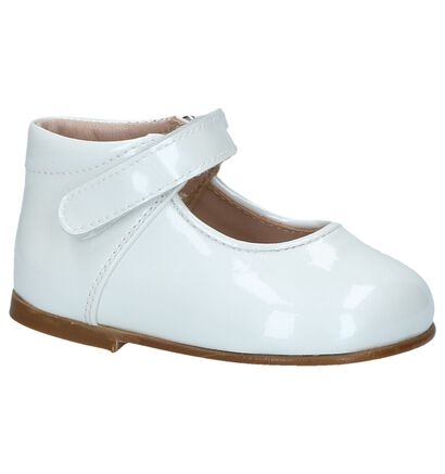 Eli Ballerines en Blanc en cuir (245976)