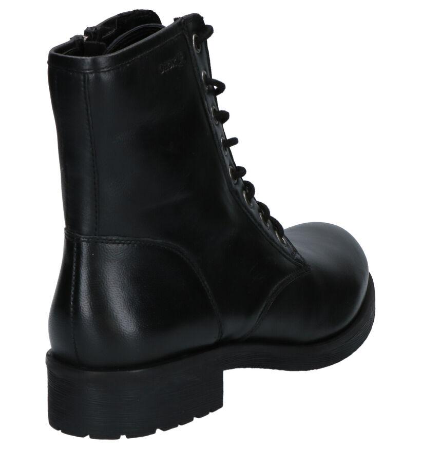 Geox Zwarte Boots in leer (251513)