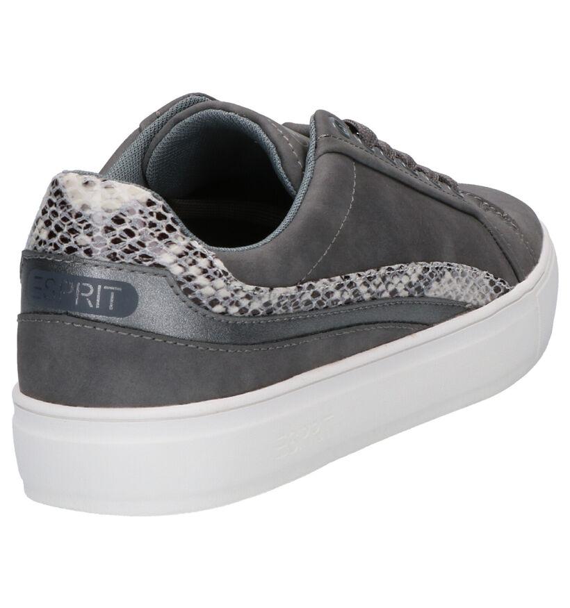 Esprit Chaussures à lacets en Gris foncé en simili cuir (269402)