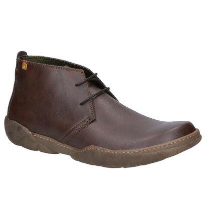 El Naturalista Chaussures hautes en Brun foncé en imitation cuir (259351)