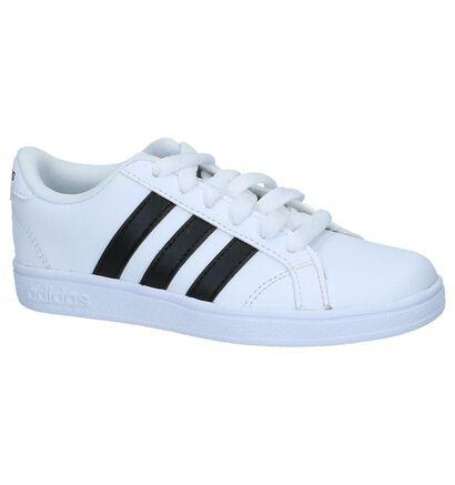 adidas Baseline K Zwarte Sneakers, Wit, pdp