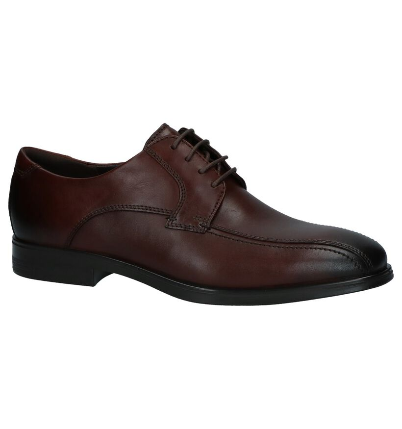 Melbourne Chaussures habillées en Brun foncé en cuir (237748)