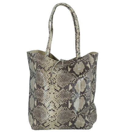 Hampton Bays Taupe Shopper Tas in leer (263285)