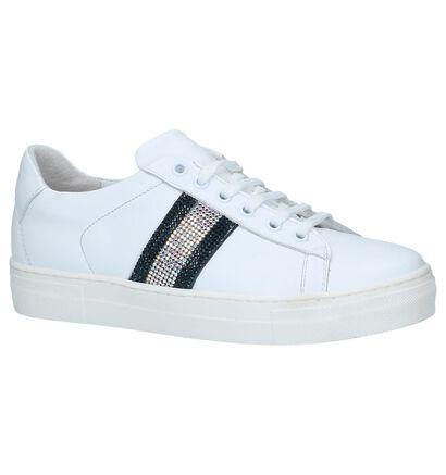 Witte Lage Geklede Sneakers Hoops Hop 12 in leer (236216)