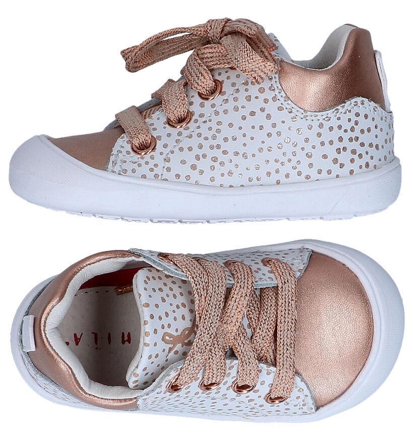 Milo & Mila Chaussures pour bébé  en Blanc en cuir (289341)