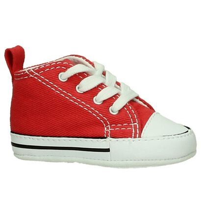 Rode Babysneakertjes Converse Chuck Taylor First Star in stof (200180)