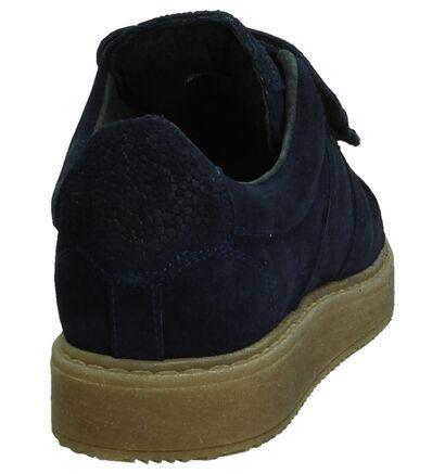 Blauwe Shoecolate Sneaker met Velcro, Blauw, pdp
