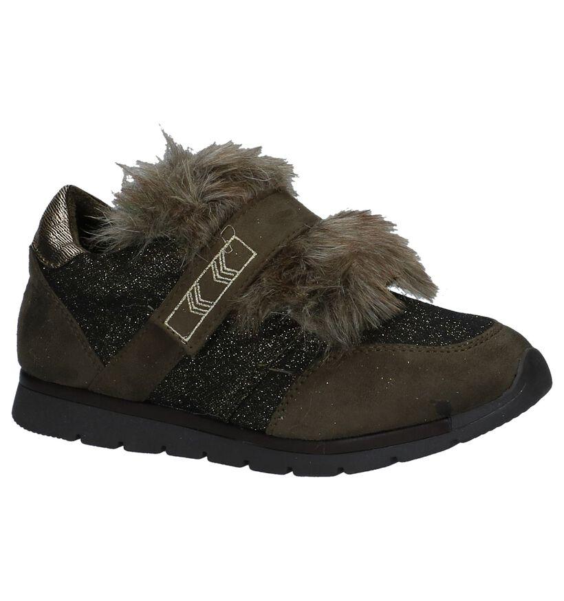 Milo & Mila Donker Groene Sneakers in stof (227570)
