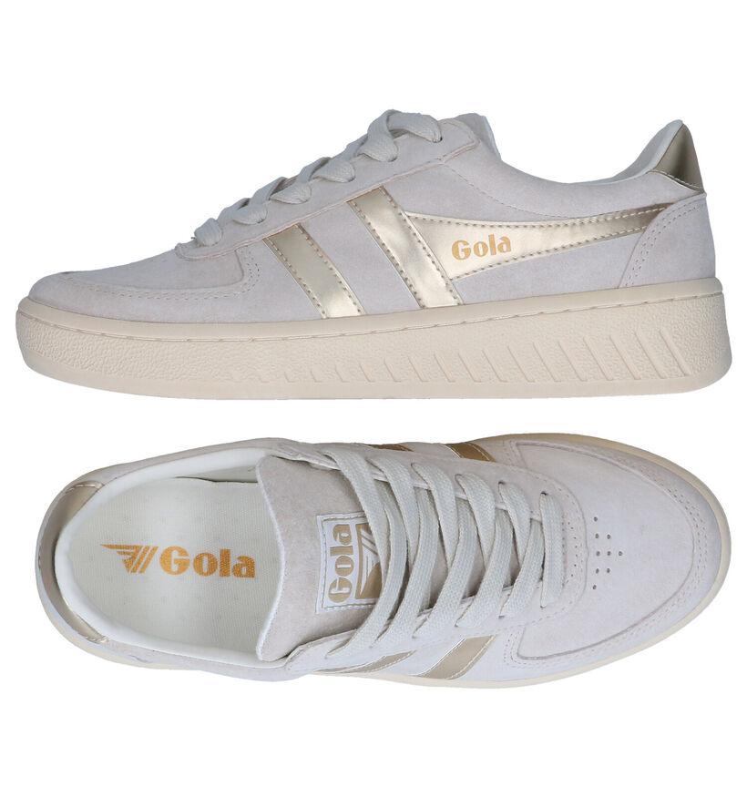 Gola Grandslam Pearl Grijze Sneakers in leer (289184)