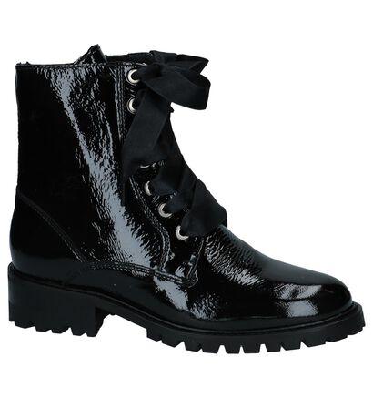 Boots met Rits/Veter Zwart Scapa in lakleer (227384)