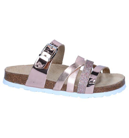 Metallic Roze Slippers Milo & Mila