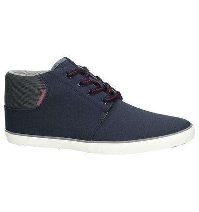 Hoge Sneaker Donker Blauw Jack & Jones Vertigo Canvas, Blauw, pdp