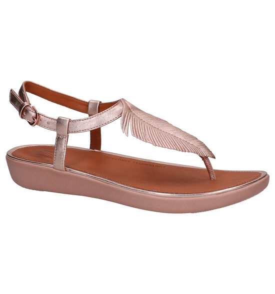 FitFlop Tia Feather Roze Sandalen