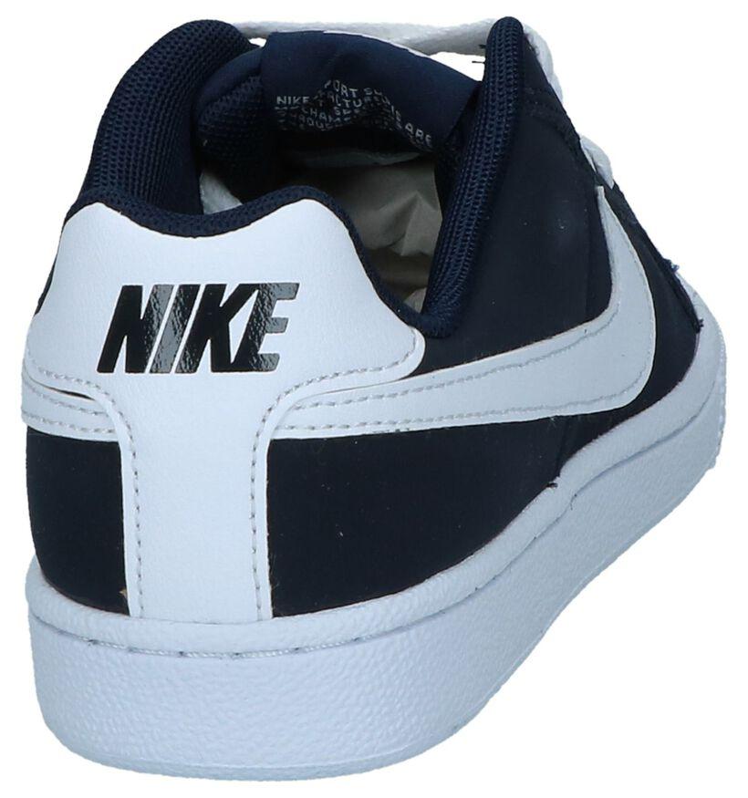 Donkerblauwe Sneakers Nike Court Royale GS in kunstleer (238326)
