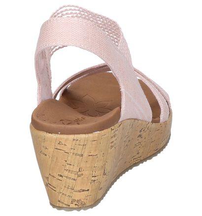 Roze Sandalen Skechers in stof (252014)