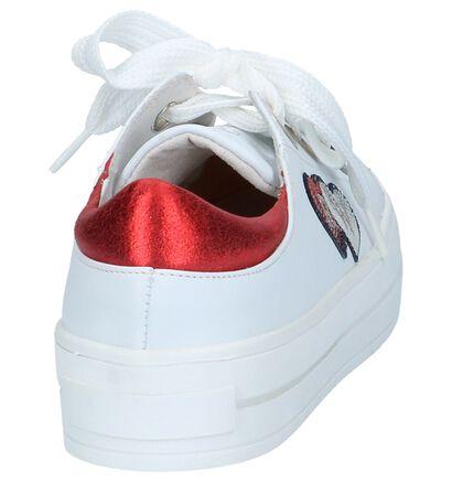 Witte River Woods Flika Lage Geklede Sneakers in leer (214788)