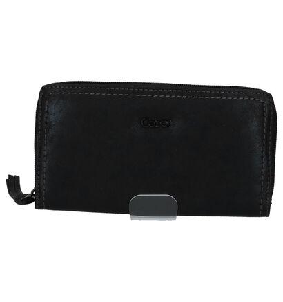 Gabor Porte-monnaies à fermeture à glissière en Noir en simili cuir (225970)