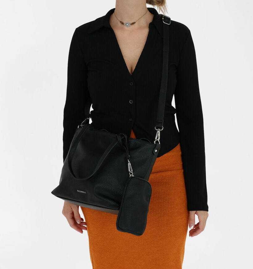 Emily & Noah Sac à main bag in bag en Noir en simili cuir (282167)