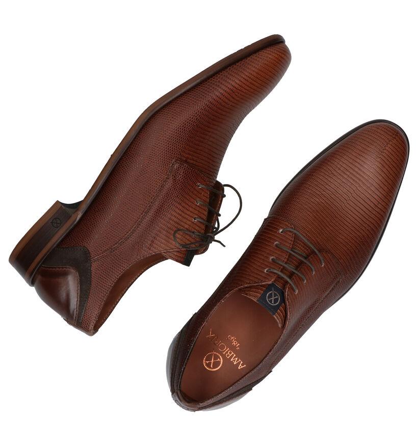 Ambiorix Dario Chaussures Habillées en Brun en cuir (283925)