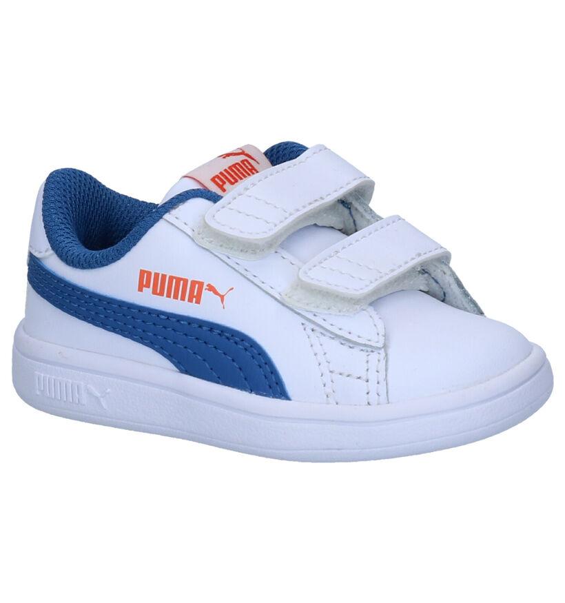 Puma Smash Witte Sneakers in kunstleer (265616)