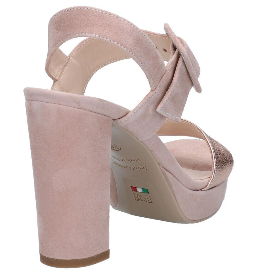 NeroGiardini Roze Sandalen in leer (270556)