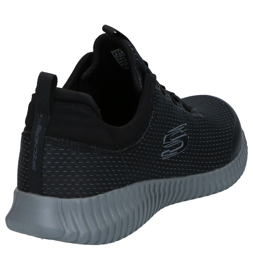 Skechers Baskets slip-on en Noir en textile (272944)