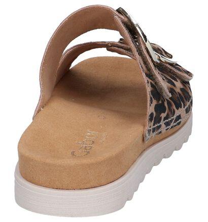 Gabor Comfort Nu-pieds plates en Brun clair en daim (245490)