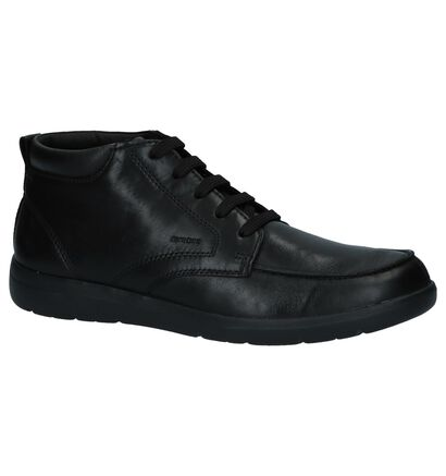 Geox Leitan Zwarte Bottines in leer (223071)