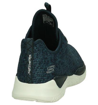 Skechers Baskets basses en Bleu foncé en textile (215081)