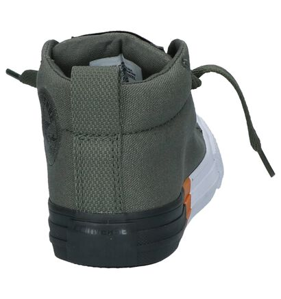 Converse Baskets hautes en Vert kaki en textile (210282)