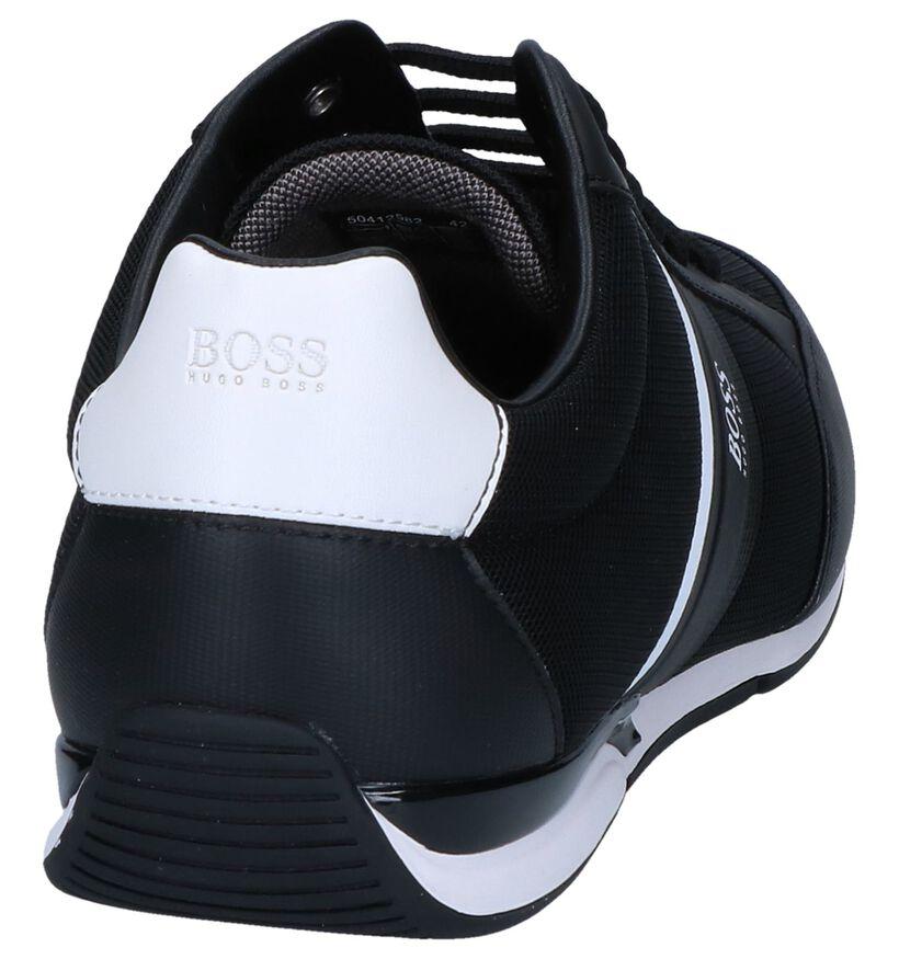 Hugo Boss Saturn Low Chaussures Basses en Noire en simili cuir (251598)