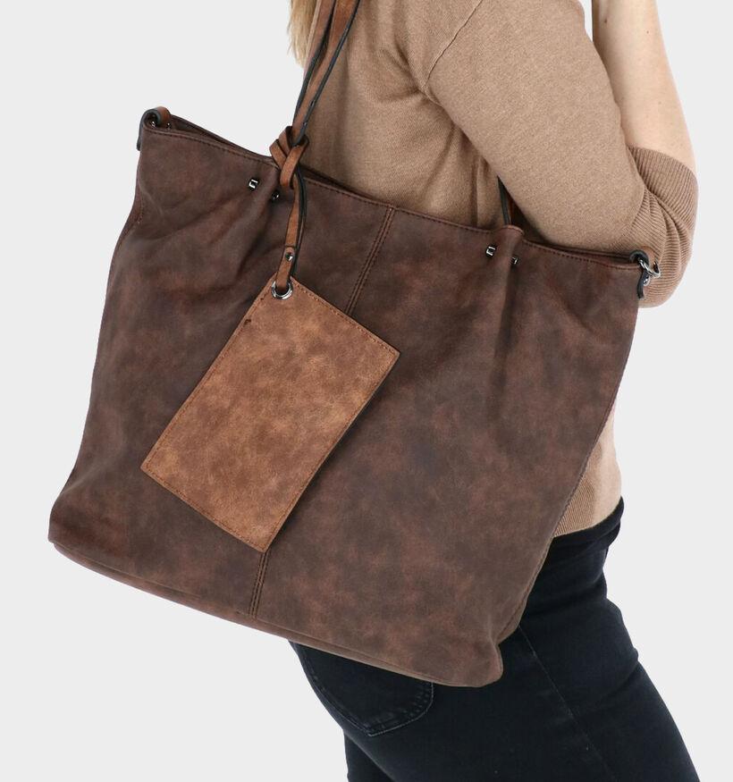 Emily & Noah Zwarte Bag in Bag Shopper Tas in kunstleer (284366)