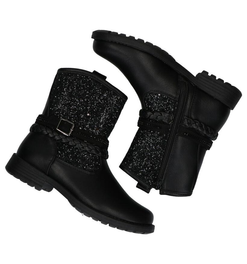 Asso Zwarte Korte Laarzen in kunstleer (278449)