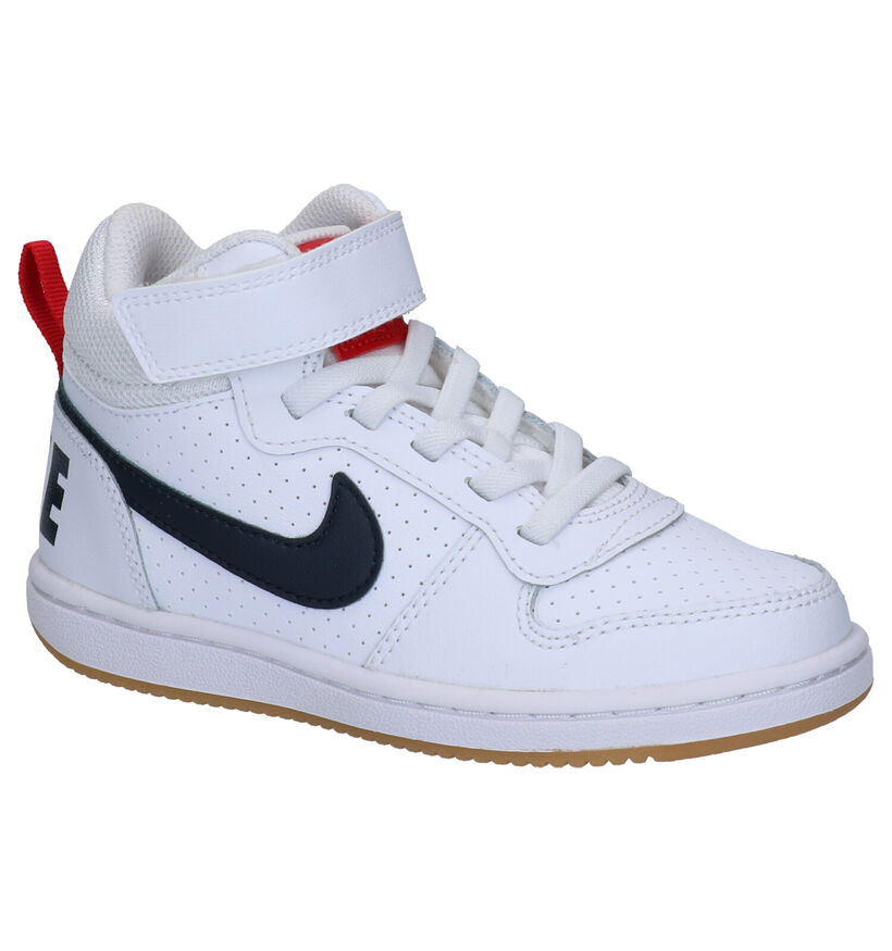 Nike Court Borough Mid Zwarte Sneakers in kunstleer (261666)