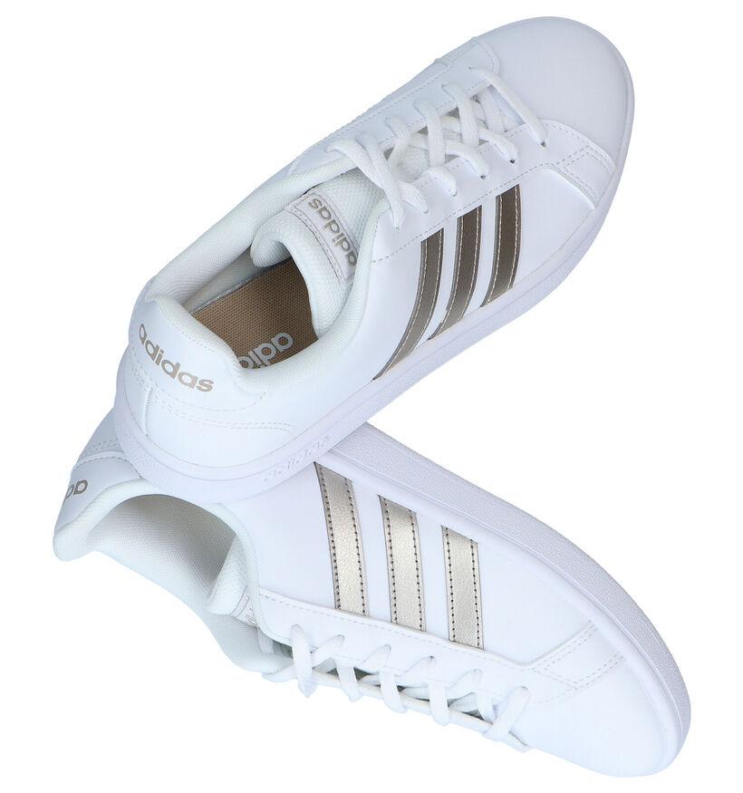 adidas Grand Court Base Witte Sneakers in kunstleer (283096)