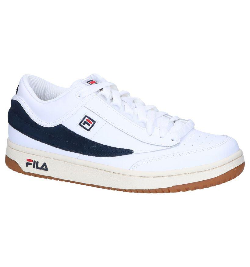 Fila T1 Witte Lage Sneakers in kunstleer (240885)