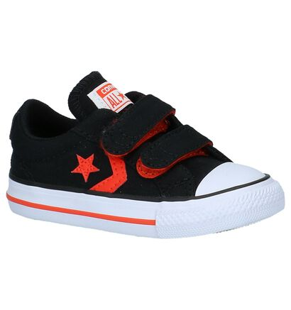 Zwarte Babysneakers Converse Star Player in stof (210272)