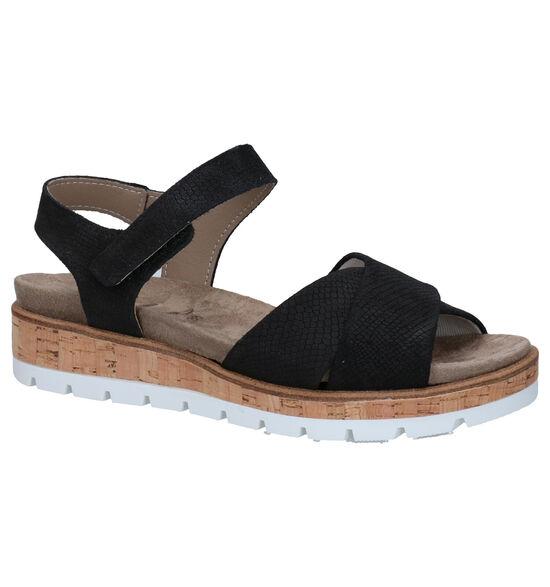 Mirel Zwarte Sandalen